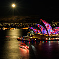 Vivid Sydney Under Full Moon by Sandy Eveleigh