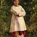 Vladimir Yegorovich Makovsky Russian 1846  1920   Ukrainian Girl, 1898 by Artistic Panda