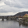 Vltava River Scene by Heather Applegate