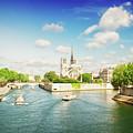 Notre Dame And River Seine by Anastasy Yarmolovich