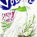 Vogue Cover Illustration Of Two Women Standing By Marcel