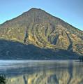 Volcano And Reflection Lake Atitlan Guatemala 3 by Douglas Barnett