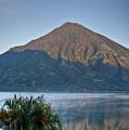 Volcano And Reflection Lake Atitlan Guatemala by Douglas Barnett