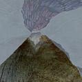 Volcano Dawn - Original Acrylic Painting by Elizabetha Fox