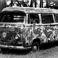 Volkswagen Microbus Nostalgia In Black And White by Bill Swartwout Photography