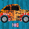 Volkswagen Vw Bug Vintage Classic Retro Vehicle Recycled License Plate Art Usa by Design Turnpike