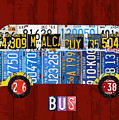 Volkswagen Vw Bus Vintage Classic Retro Vehicle Recycled License Plate Art Usa by Design Turnpike
