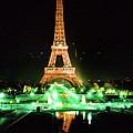 Vue De La Tour Eiffel By Night Paris France  1978 by California Views Archives Mr Pat Hathaway Archives