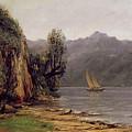 Vue Du Lac Leman by Gustave Courbet