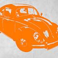 VW Beetle Orange by Naxart Studio