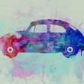 Vw Beetle Watercolor 1 by Naxart Studio
