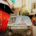 Vw Bus Parked In Basta Beirut  by Funkpix Photo Hunter