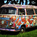 Vw Psychedelic Microbus by Bill Swartwout Photography