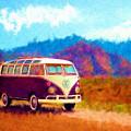 Vw Van Classic by Marilyn Sholin