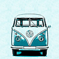Vw Van Graphic Artwork by Edward Fielding