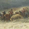 Wagon  by Adolf Schreyer