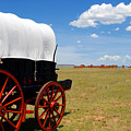 Wagon At Old Fort Union by David Lee Thompson