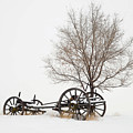 Wagon In The Snow by Dave Rennie