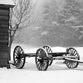 Wagon In Winter by Linda Drown