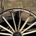 Wagon Wheel - Old West Trail N832 Sepia by Ella Kaye Dickey
