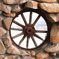 Wagon Wheel Window by Art Block Collections