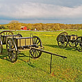 Wagons Used In The Civil War In Gettysburg National Military Park-pennsylvania by Ruth Hager