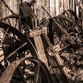 Wagons Whoa Bw by Darin Williams
