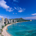 Waikiki And Diamond Head by William Waterfall - Printscapes
