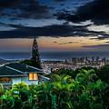 Waikiki At Dusk by Wayne Wood