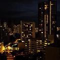 Waikiki At Night by Pamela Walton