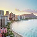 Waikiki Beach At Sunrise by Monica and Michael Sweet