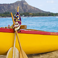 Waikiki Canoe Paddles by Dana Edmunds - Printscapes