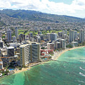 Waikiki From The Air  by Tracy Hayden