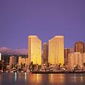 Waikiki Skyline by Peter French - Printscapes