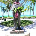 Waikiki Statue - Prince Kuhio by Mary Deal