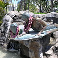 Waikiki Statue - Surfer Boy And Seal by Mary Deal