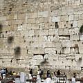 Wailing Wall In Jerusalem by Kenneth Lempert