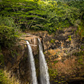 Wailua Falls Kauai I by Sharin Gabl