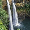 Wailua Falls Surrounded By Foliag by Greg Vaughn - Printscapes