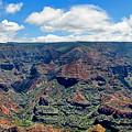 Waimea Canyon Panorama - Hawaii by Bob Slitzan