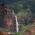 Waimea Canyon Waterfall by Phil Welsher
