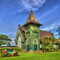 Wai'oli Hui'ia Church 2 Hanalei Kauai Hawaii Art by Reid Callaway