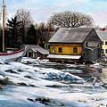Essex Boatyard, Winter by Eileen Patten Oliver