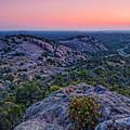 Waiting For Sunrise At Turkey Peak - Enchanted Rock Fredericksburg Texas Hill Country by Silvio Ligutti