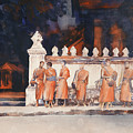 Waiting For The Walk- Morning Alms by Ryan Fox