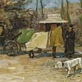 Waiting In A Car Park  Willem De Zwart  1872   1931 by Artistic Panda