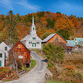 Waits River Church In Autumn by Jeff Folger