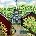 Waits River Church by Linda Marcille