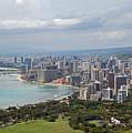 Wakiki Beach Hawaii by Carol  Eliassen
