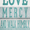 Walk Humbly- Tall Version by Linda Woods